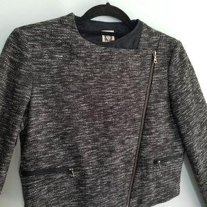 Anne Klein Jackets & Coats - Anne Klein tweed cropped moto blazer sz 4